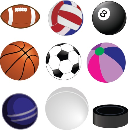 sports ball collection Vector