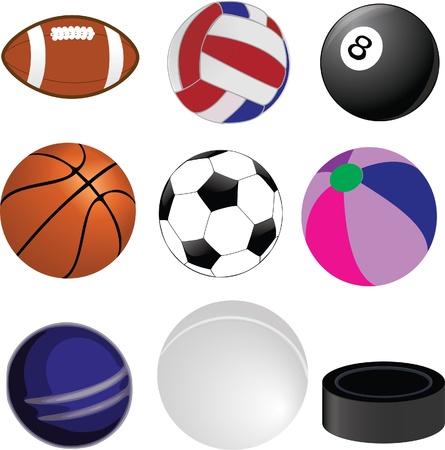 sports ball collection Vector