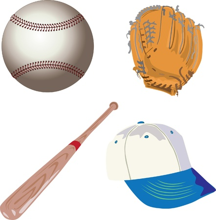 baseball sports equipment Stock Vector - 12497309