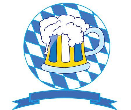 bavarian beer symbol Vector