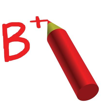 grade b plus in exams Stock Vector - 12497315