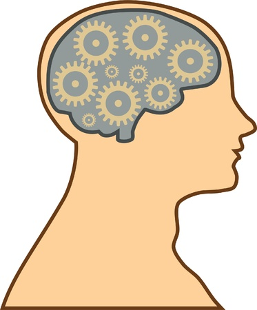 human brain process Vector