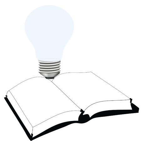 light bulb and book Vector