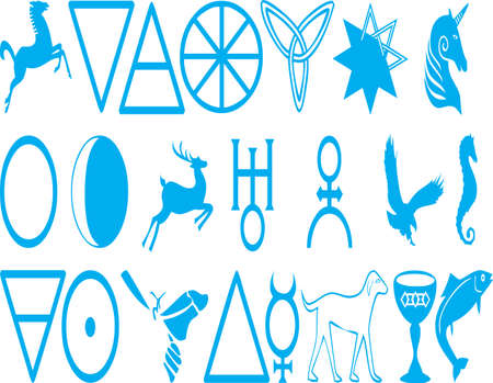 celtic zodiac signs Stock Vector - 12779029