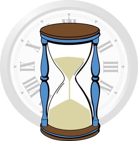 zeitarbeit: Zeit vergeht in Sanduhr und Uhr
