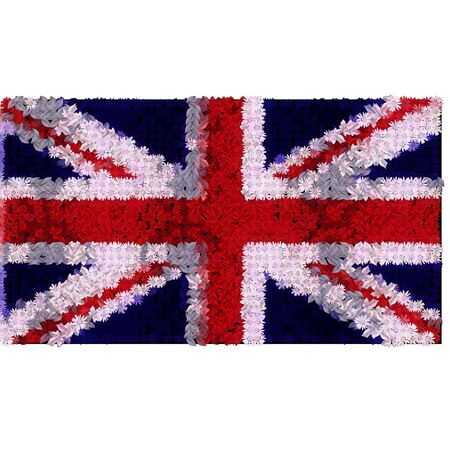 great britain flag in flowers photo