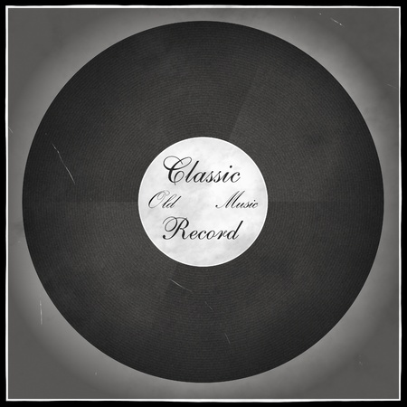vintage long playing record photo