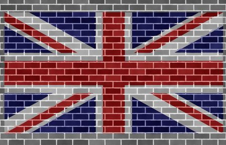 Flag of grat britain on wall photo
