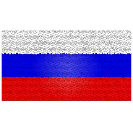 federation: Russian flag with an artistic patchwork