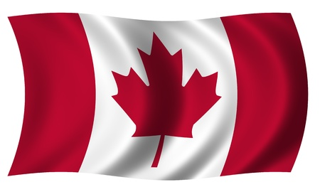 canadian flag: Flag of Canada waving Stock Photo