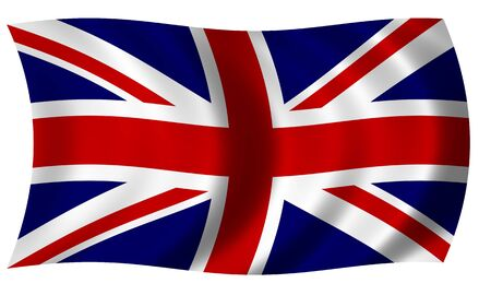 Flag of Great britain in wave photo