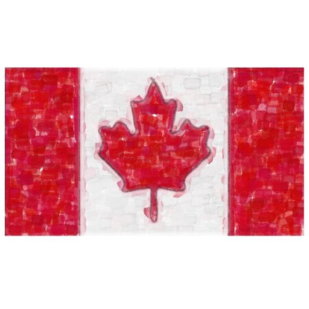 Flag of Canada in water color Stock Photo - 12990255
