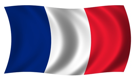 Flag of France waving Stock Photo - 12990238