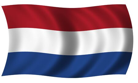 north holland: flag of Netherland in wave