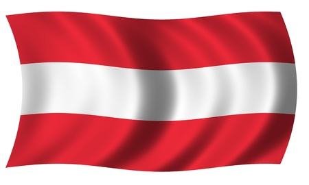 Flag of Austria in wave photo