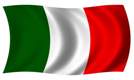 Flag of Italy in a wave photo