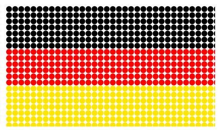 half tone: Germany flag in half tone