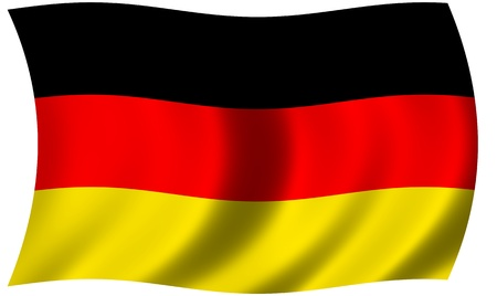 Germany flag waving and fluttering in wind photo