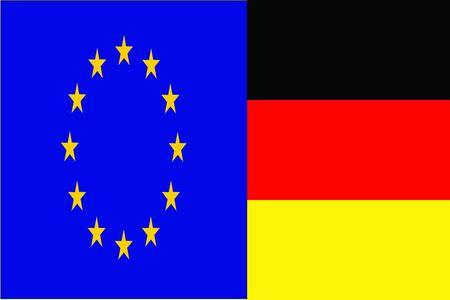 germany flag: european union and germany Illustration
