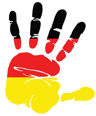frankfurt: Handprint for Germany Illustration