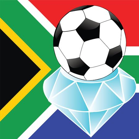 south african football on diamond Stock Photo - 13060169