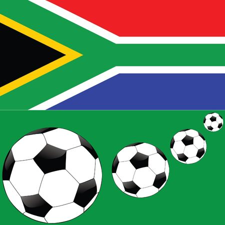 south african football Stock Photo - 13050372