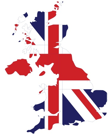 flag map of united kingdom Vector