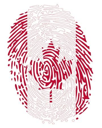 empreinte du pouce: Couleurs Thumbprint drapeau du Canada Illustration
