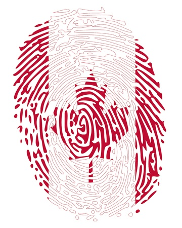 fingermark: Thumbprint Canada Flag Colors