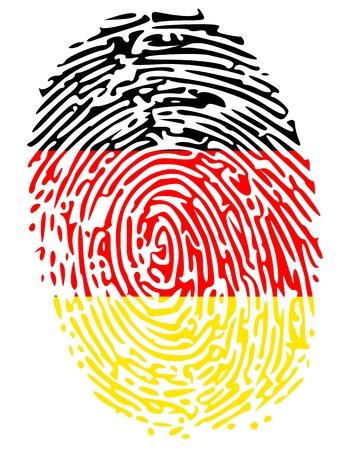 empreinte du pouce: Couleurs de drapeau de l'Allemagne Thumbprint