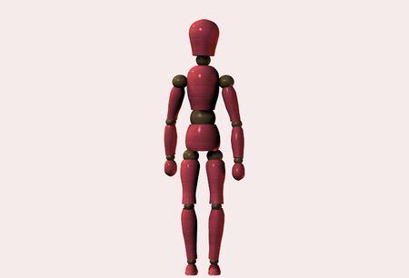 wooden doll: Manequinn standing