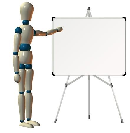 Lehre auf weissem Karton Standard-Bild