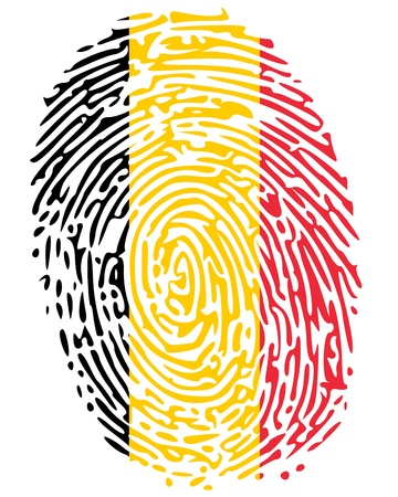forensic science: Thumbprint Belgium Illustration