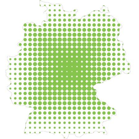 half tone: germany map in half tone