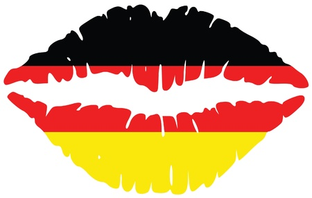lips print in colors of germany Vector
