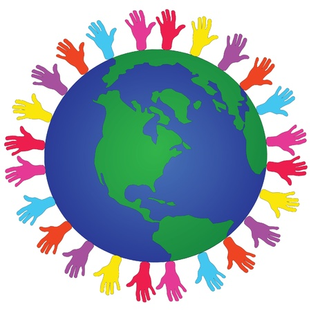 erde h�nde: globalen Fragen