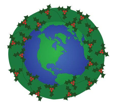 Global christmas Vector