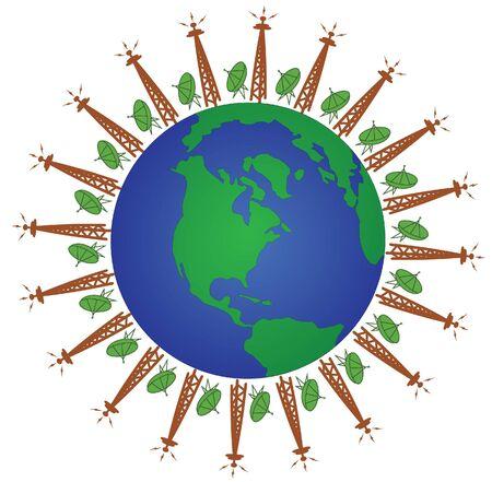 satellite transmitter: Global communication network