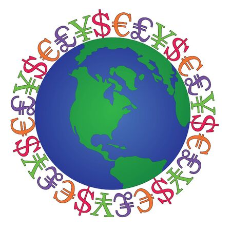 global currencies Vector