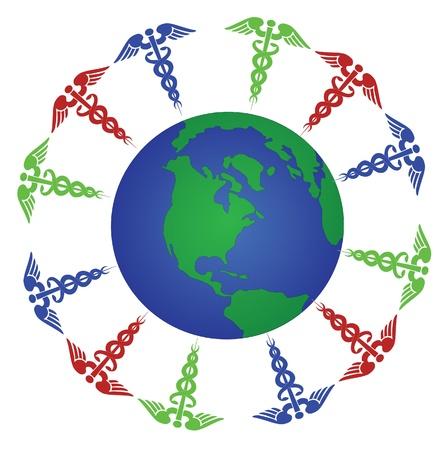 global health Stock Vector - 13185158