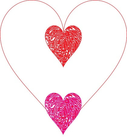 hearts and hearts Vector