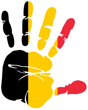 Handprint flag of Belgium