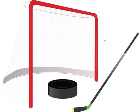 Ice hockey goal Stock Vector - 13351958