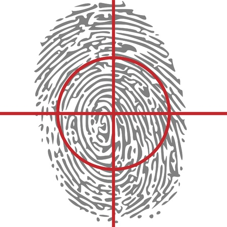 datos personales: la identidad de destino en huella digital Vectores