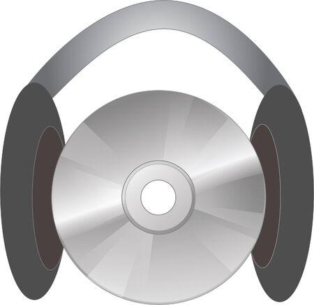 ear phones: headphone and cd
