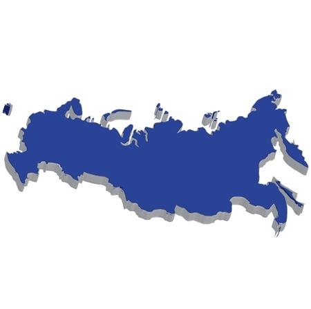 bandera rusia: Mapa de la bandera de Rusia
