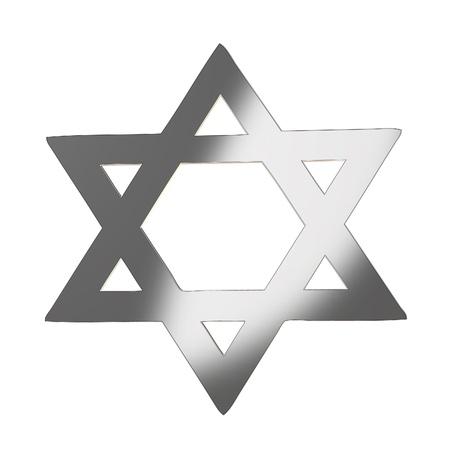 estrella de david: Estrella de David en color gris plata