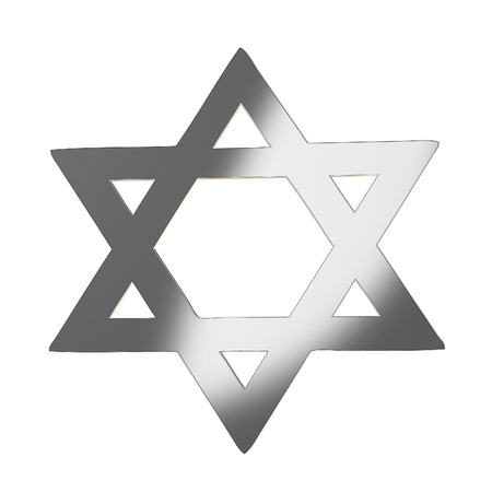 jewish star: Star of david in silver gray Stock Photo