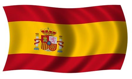 spanish flag: Spain flag in wave