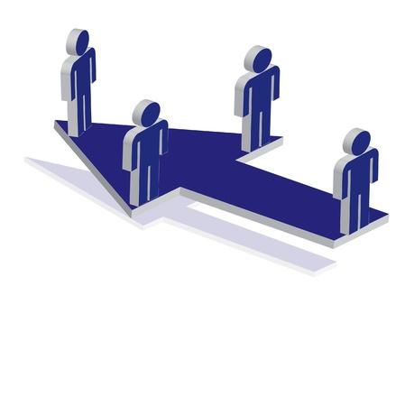 business focus: focus on business plan Illustration